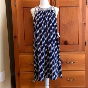 She & Sky Blue & White Dress NWT